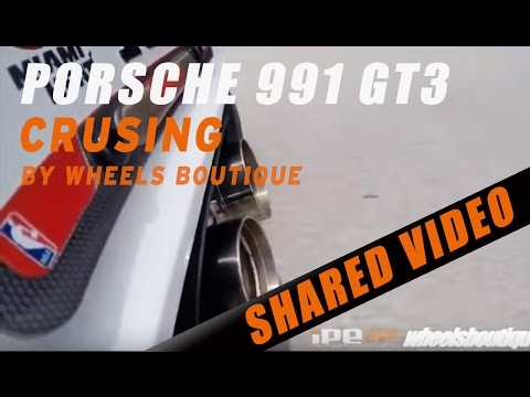 Porsche 991 GT3 with iPE exhaust system