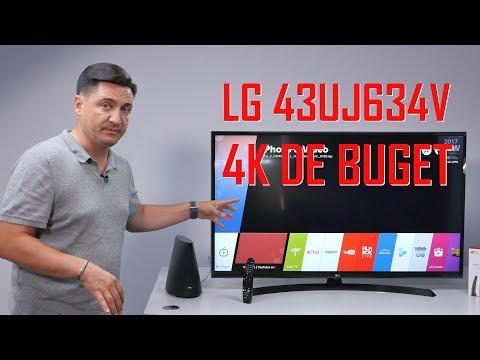 UNBOXING & REVIEW - LG43UJ634V - Pe scurt, 4K numai bun de buget