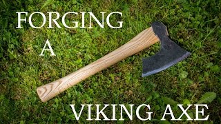 Forging a bearded viking axe