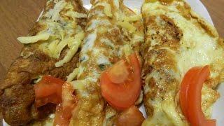 Бризоль из фарша с грибами. Блюда из яиц. Домашняя кулинария.