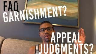Stop Wage Garnishment? Appeal Judgments? || Live Debt Free || Good Credit Good Life