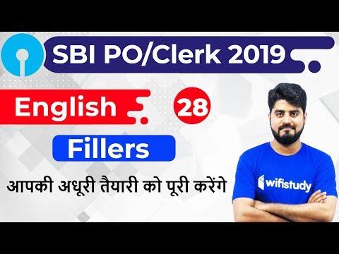 3:00 PM - SBI PO/Clerk 2019 | English by Vishal Sir | Fillers