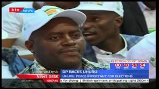 Democratic Party among the parties endorsing President Uhuru Kenyatta's bid