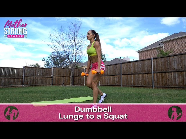 Dumbbell Lunge to Squat