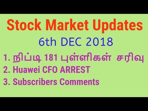 Stock Market News and Updates 6th DEC 2018 | huawei cfo News | Tamil Share