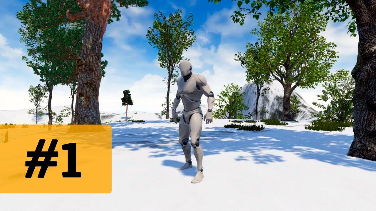 Создание игр / Уроки по Unreal Engine 4 / #1 - создание террейна, материалы