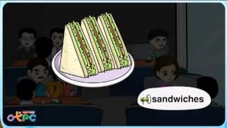 สื่อการเรียนการสอน คำศัพท์ภาษาอังกฤษ   อาหาร ป.2 ภาษาอังกฤษ