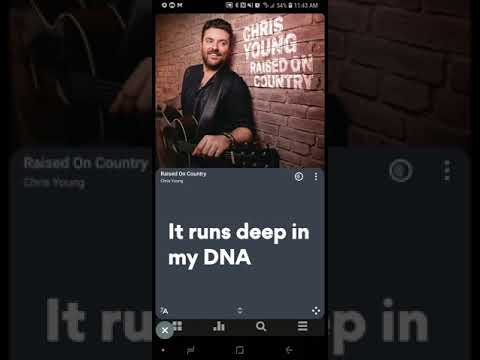 Chris Young - Raised On Country (Official Lyric Video) - Free Music