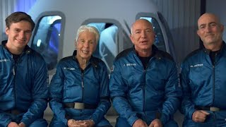 video: Jeff Bezos says he has been outperformed in space tests by 82-year-old Wally Funk ahead of blast-off