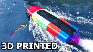 Rainbow Powered 3D Printed RC Boat