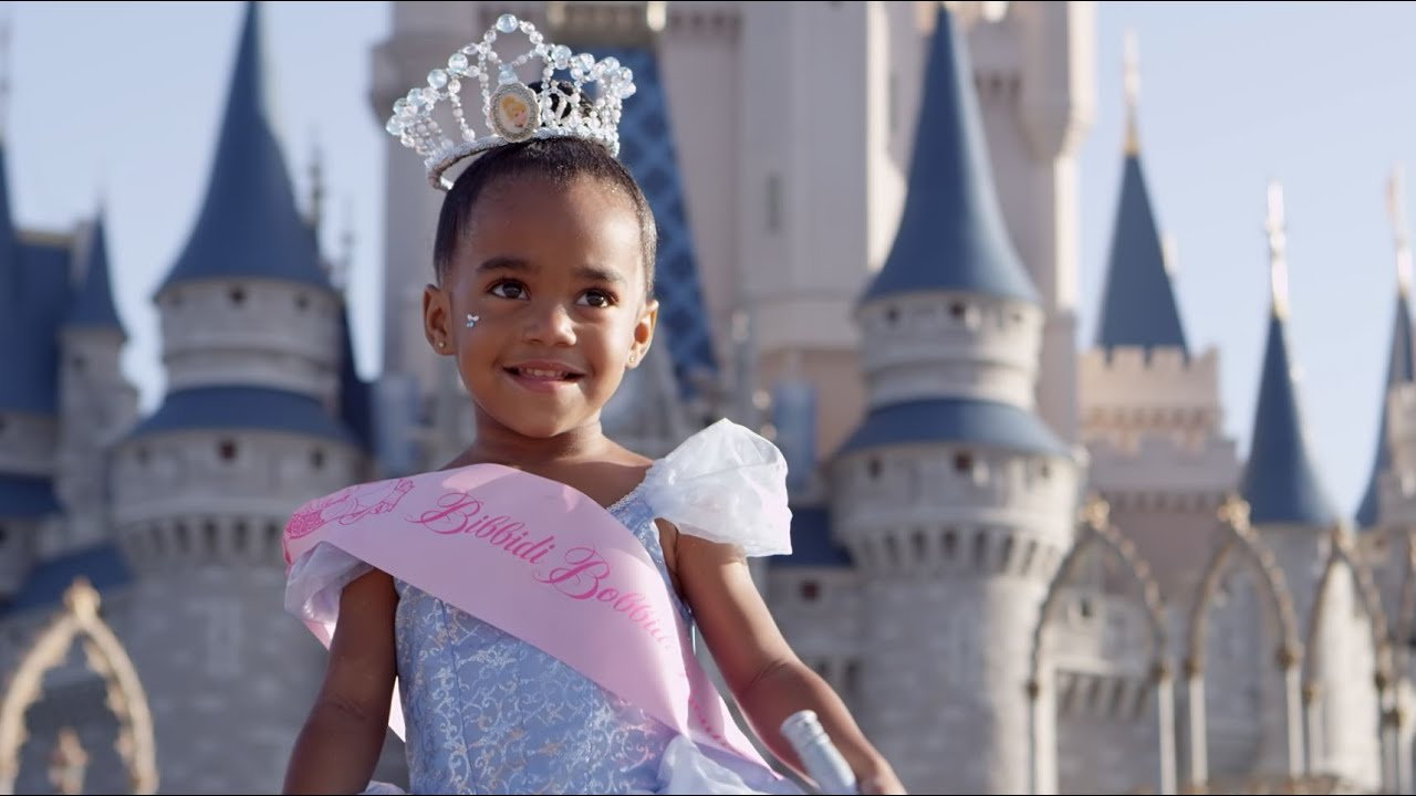 beautiful child becomes princess for a day at Disney's Magic Kingdom