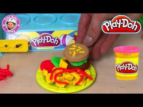 Play-Doh Burger Küche - Knetmasse Spaß für Kinder - Knete plasticine пластилин plastilina