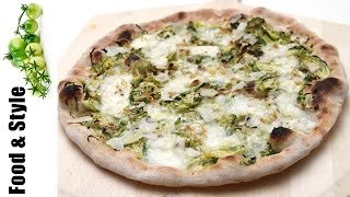 Homemade Brussels Sprout Pizza with Burrata