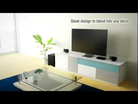 ONKYO LS3100 2.1-Kanal Heimkino-Lautsprechersystem (Bluetooth 3D SRS Klang Flachbild LCD LED TV)