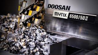 Huge Titanium Cut With Harvi Ultra 8X In Doosan Mynx Beast   CNC Machining