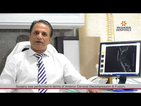 Cervical discitis with epidural abscess.Pt.Mr Balayya