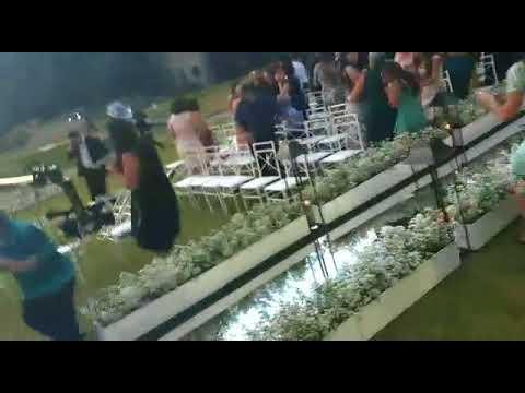 Helicóptero caiu em casamento com a Noiva