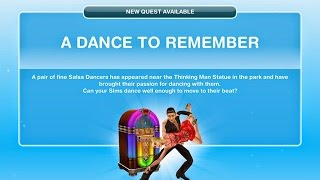 Sims Freeplay A Dance to Remember Quest