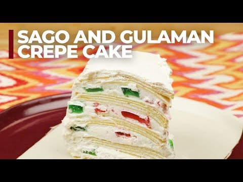 Sago and Gulaman Crepe Cake