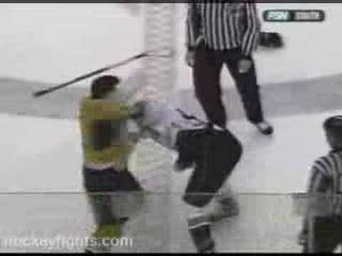 Darcy Hordichuk vs. Shawn Thornton