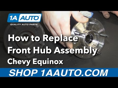 How To Replace Install Front Hub Assembly 08 Chevy Equinox Mp3
