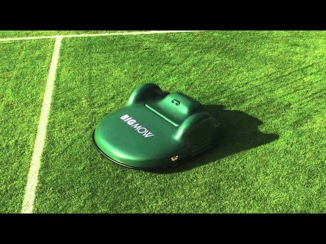 Big mow in action on a soccer field!