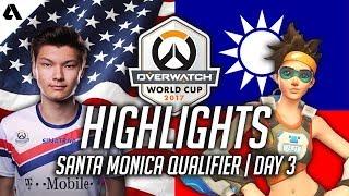 Overwatch | Team USA vs Chinese Taipei ft Sinatraa Tracer & Genji | World Cup 2017 Highlights