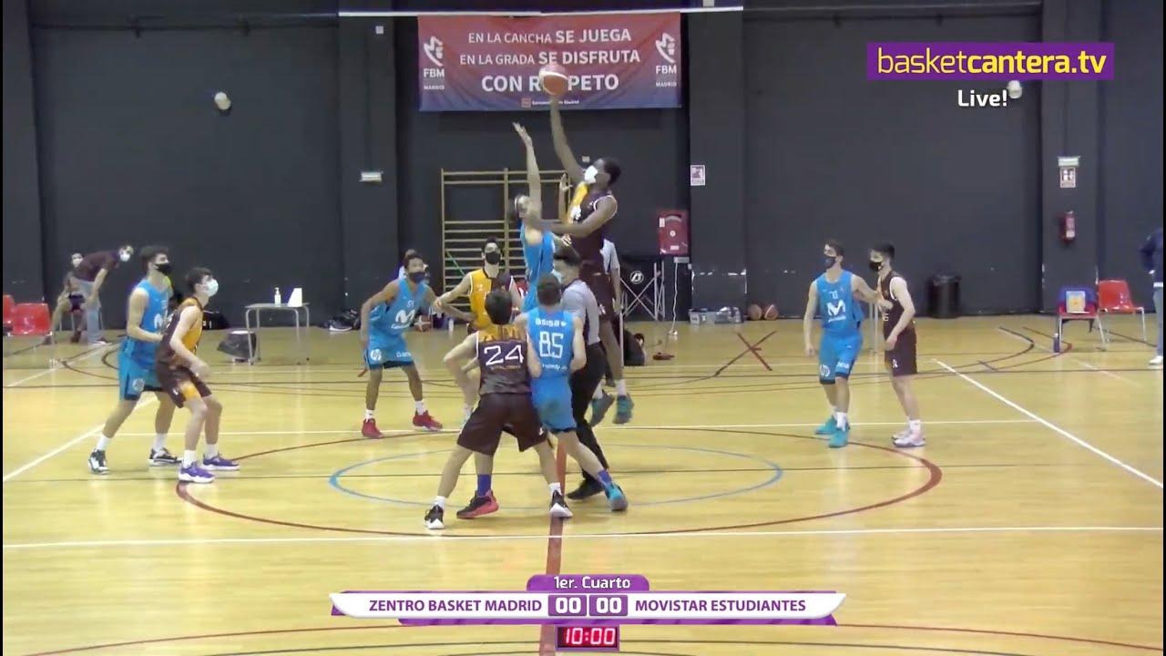 U16M - CB ZENTRO vs MOVISTAR ESTUDIANTES.- Liga Cadete FBMadrid (18-2-21) #BasketCantera.TV