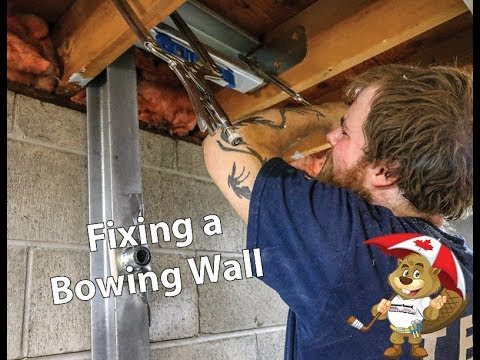 How to properly fix a bowing wall using our patented PowerBrace System.