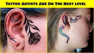 Ear Tattoo Designs Are On The Next Level
