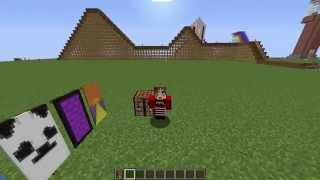 Minecraft Banner Tutorial #4 | Panda, Nether Portal and Sunset