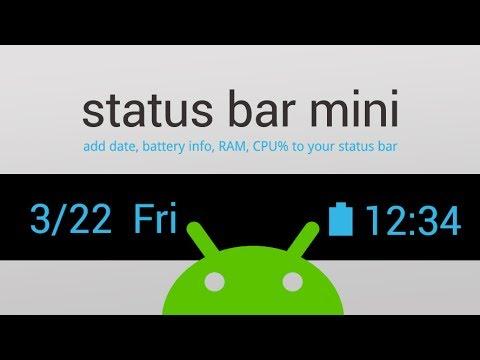 Video of Status Bar Mini PRO