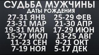 Судьба Мужчин рожденных 23-31 марта, 21-30 апреля, 19-31 мая  и другие см. описание. Чудинов