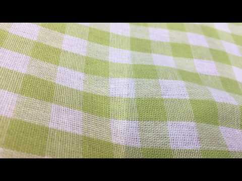 Baumwollstoff Dekostoff kariert grün weiß