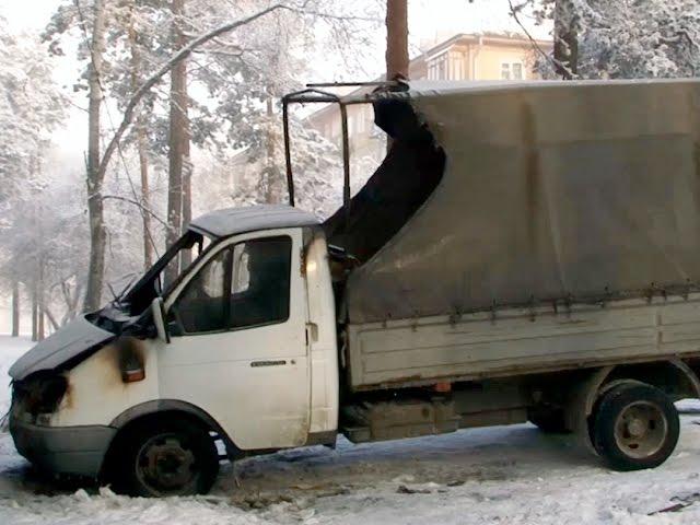 Морозы ударили по домам и автомобилям