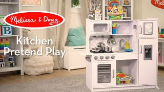Melissa & Doug White Chef's Kitchen (Cloud) | Watch Countless Ways Kids Can Play