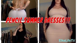 PENCIL DRESS/SUMMER DRESS REVIEW!! CURVES!!
