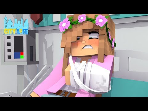 LITTLE KELLY BREAKS HER ARM ( on a date!!! )| Minecraft City Life