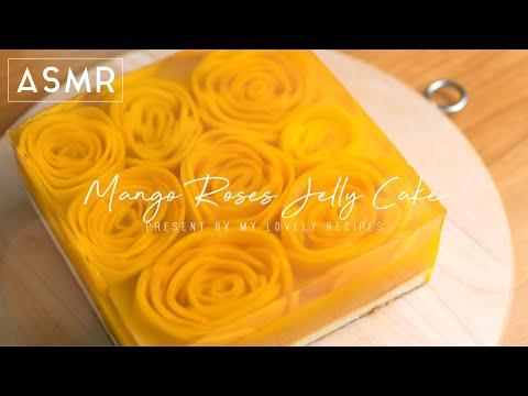 Jelly Cake with Mango Roses
