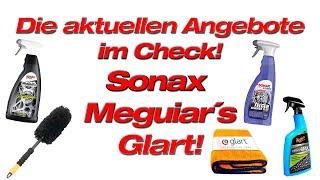 Aktuelle Aktionen im Check! Sonax Meguiar`s und Glart Produkte reduziert! Felgenbeast nur 11 Euro!
