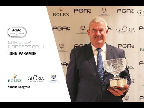 John Paramor Awarded Christer Lindberg Bowl for Services to European Golf