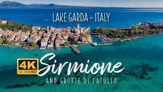 Sirmione, Lake Garda, Italy & Grotte Di Catullo Roman Ruins - 4K 60FPS
