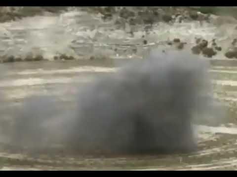 Ensayo de explosión de mina en el campus de La Marañosa del INTA