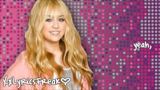 Hannah Montana- Been Here All Along (Lyrics Video)