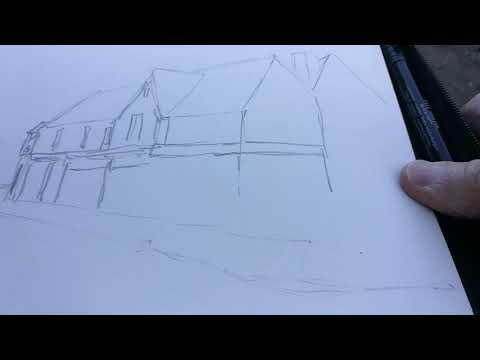 Thumbnail of How to sketch buildings plein air #colinsteedart