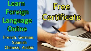 Foreign Language Course Online For Free   Learn Spanish, French, German Foreign Language at Home