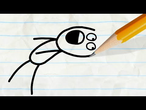 Sneaky Pencil Up to No Good!  -in- SUPER TRICKY PENCILMATION COMPILATION - Cartoons for Kids