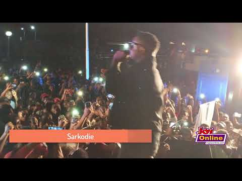 Sarkodie performs at the Joy FM Open House Party at UPSA