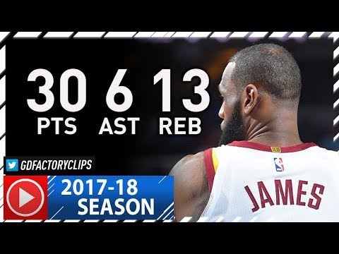 LeBron James Full Highlights vs Sixers (2017.11.27) - 30 Pts, 13 Reb, 6 Ast, SICK!