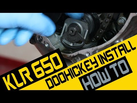 THE BEST KLR650 DOOHICKEY INSTALL VIDEO ON YOUTUBE - AVOIDED CERTAIN DISASTER